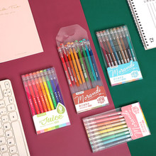 JIANWU 9 unids/set 0,5mm creativo Morandi pluma de Gel de Color conjunto Kawaii diario pluma útiles escolares para estudiantes papelería de oficina