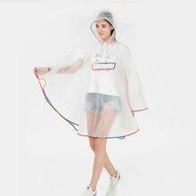 MEHONESTLY 2019 new adult fashion waterproof plastic EVA women rain coat cape hooded for Girls ladies Hiking Cycling Poncho