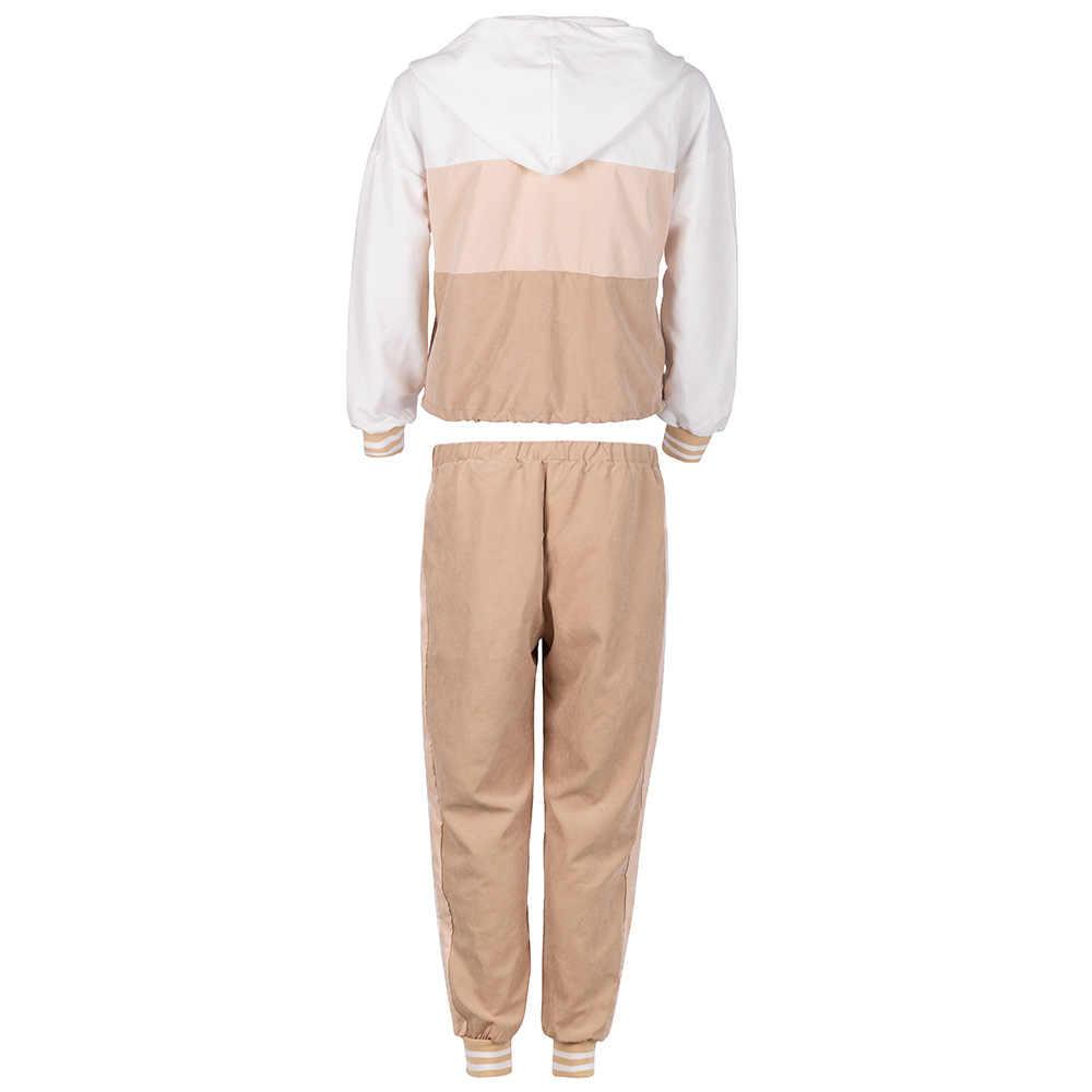 Conjunto de dos piezas sudaderas con capucha para mujer, ropa de otoño, trajes de dos piezas, camisetas y pantalones deportivos informales para mujer, de dos piezas conjuntos