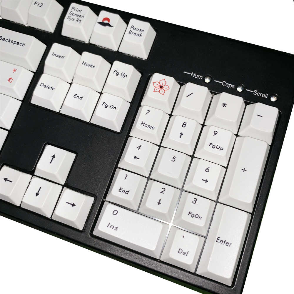Axis Body : Keycaps only, Color : 109 Keys Keyboard keycaps 109 Keys//Set Japanese Sakura PBT Dye Sublimation Keycap Mechanical Keyboard Keycaps Cherry Profile