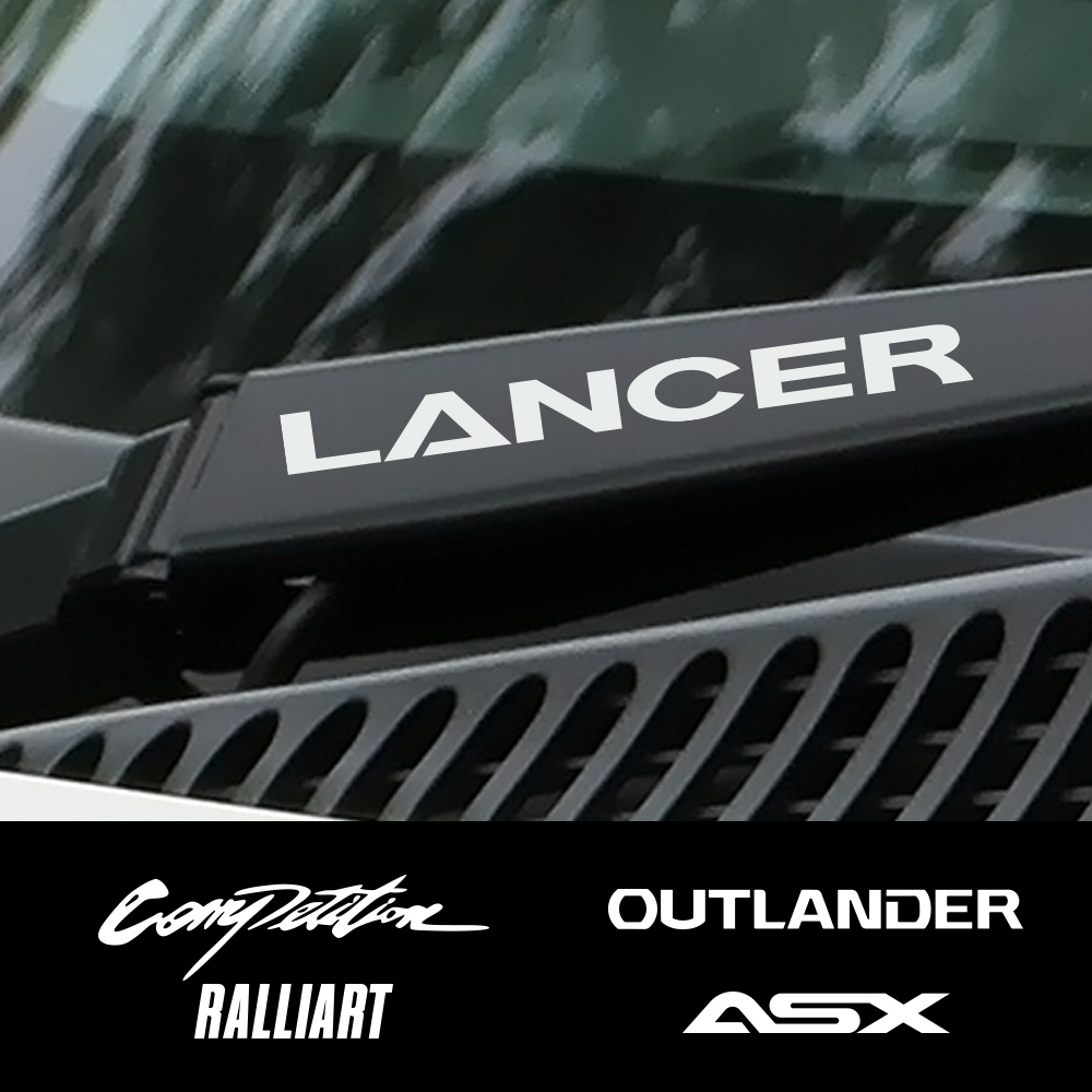 4PCS Car Vinyl Window Wiper Decor Stickers For Mitsubishi Lancer 10 3 9 EX Outlander 3 ASX L200 Ralliart Competition Accessories-in Car Stickers from Automobiles & Motorcycles