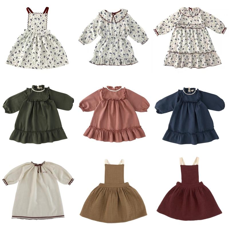 Liilu 2020 Neue Herbst Winter Kinder Kleider für Mädchen Nette Lange Hülse Druck Prinzessin Kleid Baby Kind Mode Outfits Kleidung