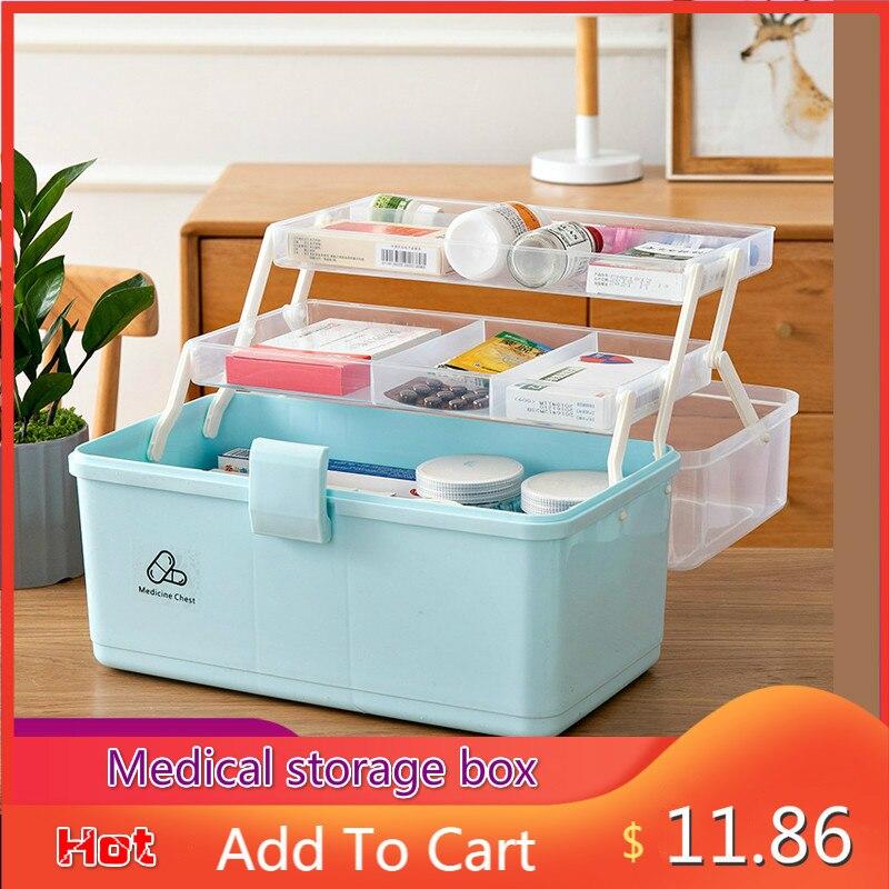 3 слоя портативный аптечка пластиковый лекарственный Многофункциональный медицинский шкаф семейный аварийный набор коробка