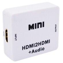 Rozdzielacz Hdmi 1080P Hdmi cyfrowy na analogowy 3.5Mm wyjście Audio Hdmi2Hdmi