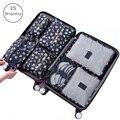 7 шт./компл. дорожная сумка для багажа  сумка для хранения одежды  косметическая упаковка  органайзер для багажа  дорожная сумка для багажа  а...