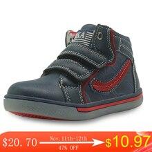 Детская обувь Apakowa для мальчиков, сезон весна осень, модные уличные спортивные ботинки из искусственной кожи с высоким берцем, детские удобные ботильоны, европейские размеры 21 26