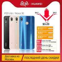 100% verre arrière d'origine pour Huawei P20 Lite batterie couverture arrière remplacement pour Huawei Nova 3E boîtier avec objectif de caméra