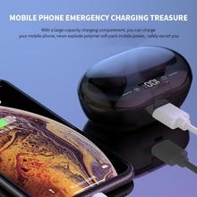 C8S TWS 5.0 Bluetooth Headphone 3D Stereo Wireless Earphone With Dual Mic 3000mAh LED Digital Power Bank Noise Reduction Headset
