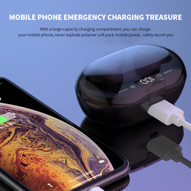 Image 4 - C8S TWS Wireless Earphone Bluetooth V5.0 3000 MAh Charging  Box 