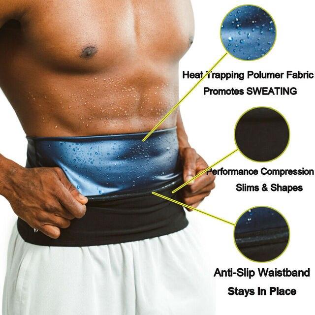 Men sweat waist band Waist Trimmer Belt Weight Loss sweat sauna shaper body shaper Wrap Fat Tummy Stomach Strap for women slim 3