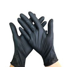 Nitrile-Gloves Prep Disposable Black Food Cooking-Gloves/kitchen 50PC Service Waterproof
