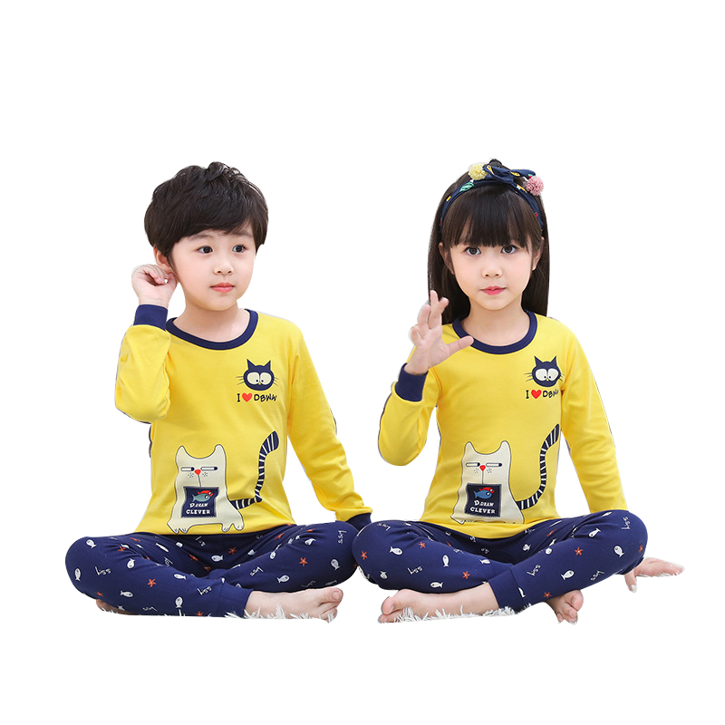 Fall Children Pajama Sets Cartoon Kids Pijamas Homewear Clothing Pajamas For A Boy Of 12 Years Sleepwear Cotton Teens Nightwear 5