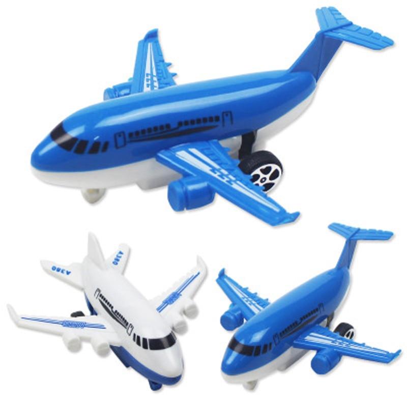 1pcs Plastic Aircraft Model Air A380 Durable Air Simulation Track Inertia Aircraft Passenger Plane Toys For Children Kids Gift