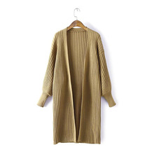 2019 Autumn Women's Sweater Cardigan Large Size Long Sweater Cardigan Loose Lantern Sleeve Knit Sweater Coat цена 2017