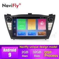 NaviFly 8 Android 9 Car Multimedia Player For Hyundai IX35 TUCSON 2009 2010 2014 2015 Wifi RDS GPS Navi 2+32G HD Car Radio BT