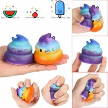 Stress Relief Toy Squeeze ToysExquisite Divertido Galaxy Poo Perfumado Encanto Squishy Lento Subindo Apaziguador do esforço Toy 2019 7.29(China)