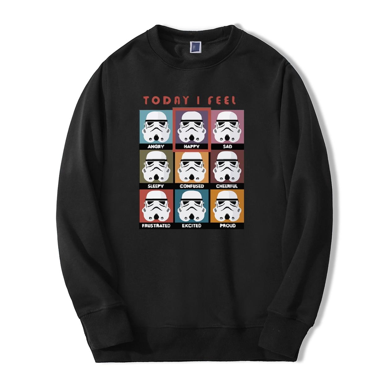 Fashion Today I Fell Happy Star Wars Hoodies Men 2019 Spring Winter Men Sweatshirt Fleece Tracksuit Warm fitness casual pullover