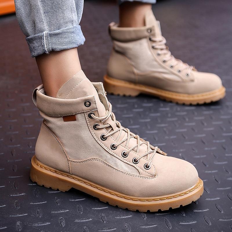 Mens Designer Shoes Spring Autumn Men Boots Genuine Leather Ankle Boots Men Winter Work Shoes Men Military Boots