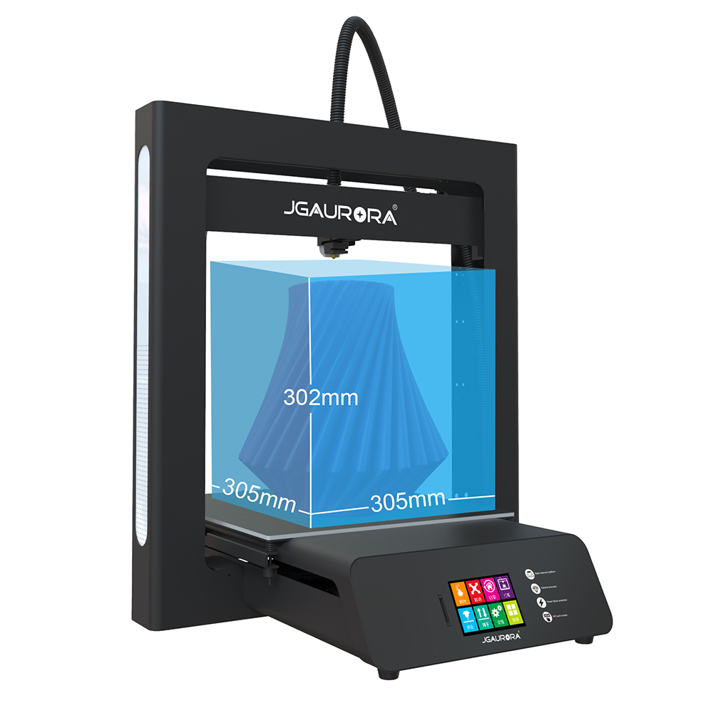 JGAURORA 3D Printer A5 Updated A5S Full Metal Diy Kit Extreme High Accuracy Large Print Size 305x305x320mm Impressora 3d 3
