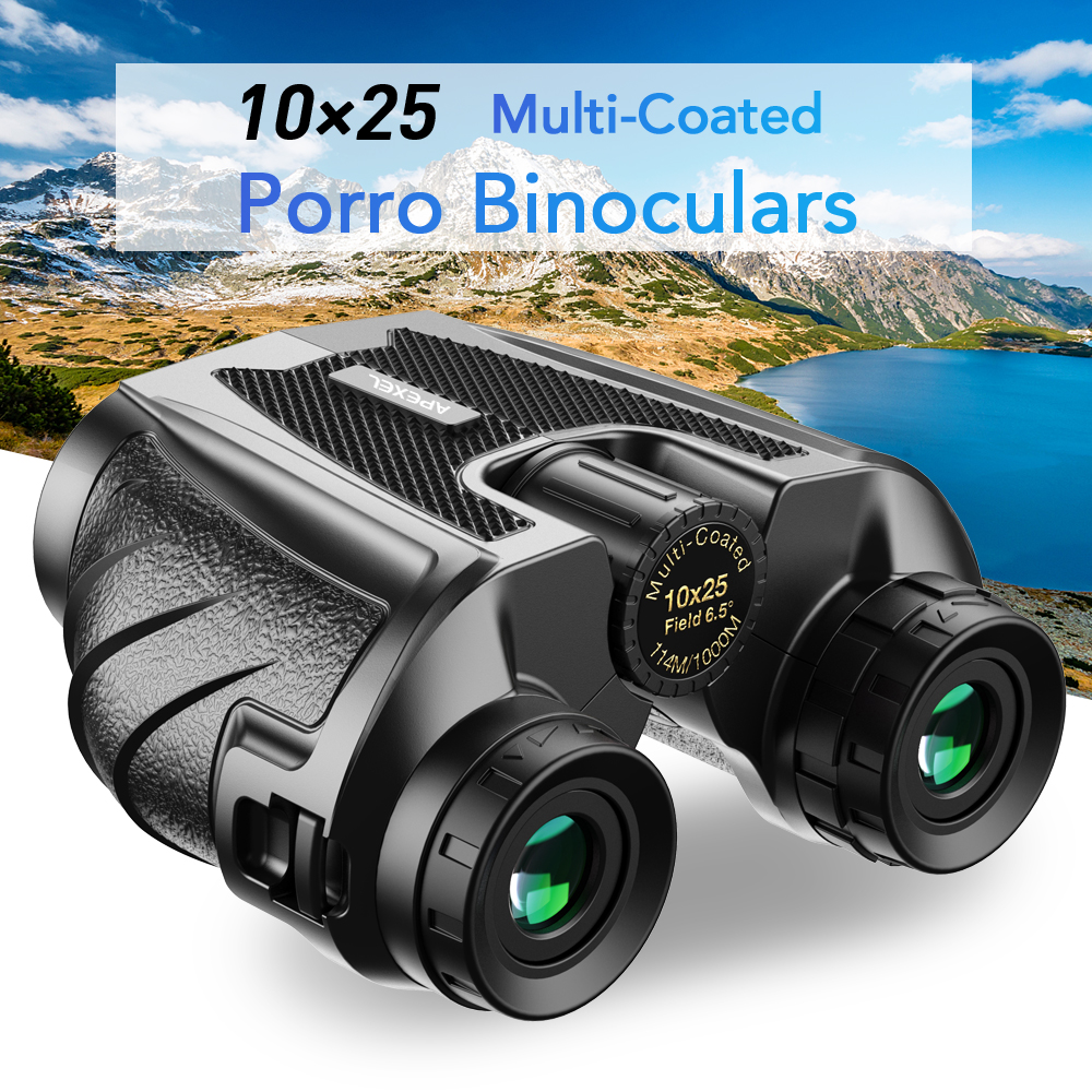 APEXEL Professional Binoculars 10x25 BAK4 Prism High Powered Zoom Binocular 114m 1000m Hunting Telescope for Sport bird-watching