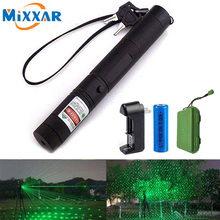 Laser vert livraison directe, 532 nm, appareil puissant, laser 303, mise au point ajustable, chargeur + batterie 303 + chargeur + 18650