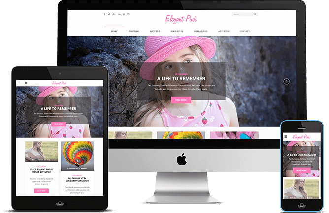 wordpress-Elegant Pink图片主题模板