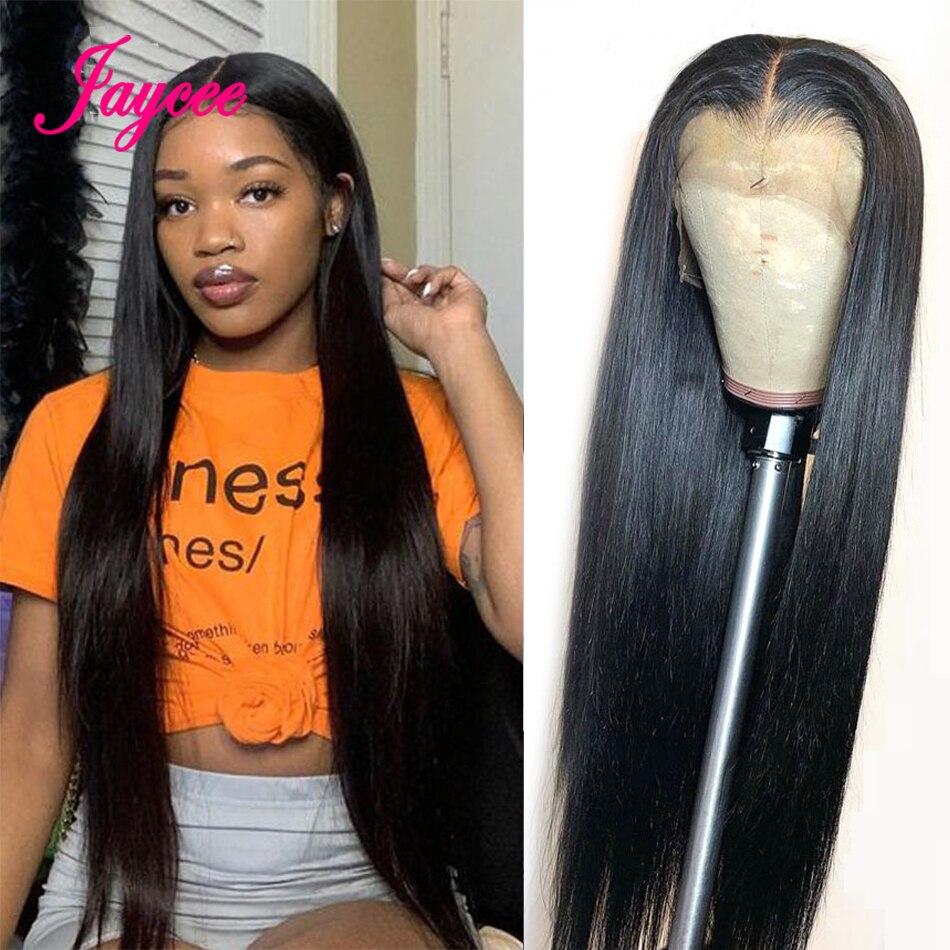 Парик длинный 30, 32 дюйма, парики из прямых человеческих волос на сетке спереди, парики бразильские прямые с предварительно выщипанными воло...