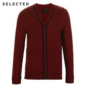 Image 5 - 選択100% ウール長袖カーディガンプルオーバーのセーターの男性のニット服t
