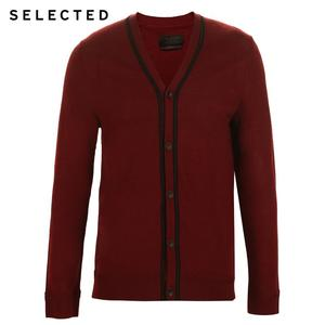 Image 5 - SELECTED 100% Wool Long sleeved Cardigan Pullover Sweater Mens Knitted Clothes T