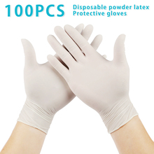 100Pcs/Lot Disposable Latex Protective Gloves Non Slip Acid Laboratory Rubber Latex Gloves Household Cleaning Supply
