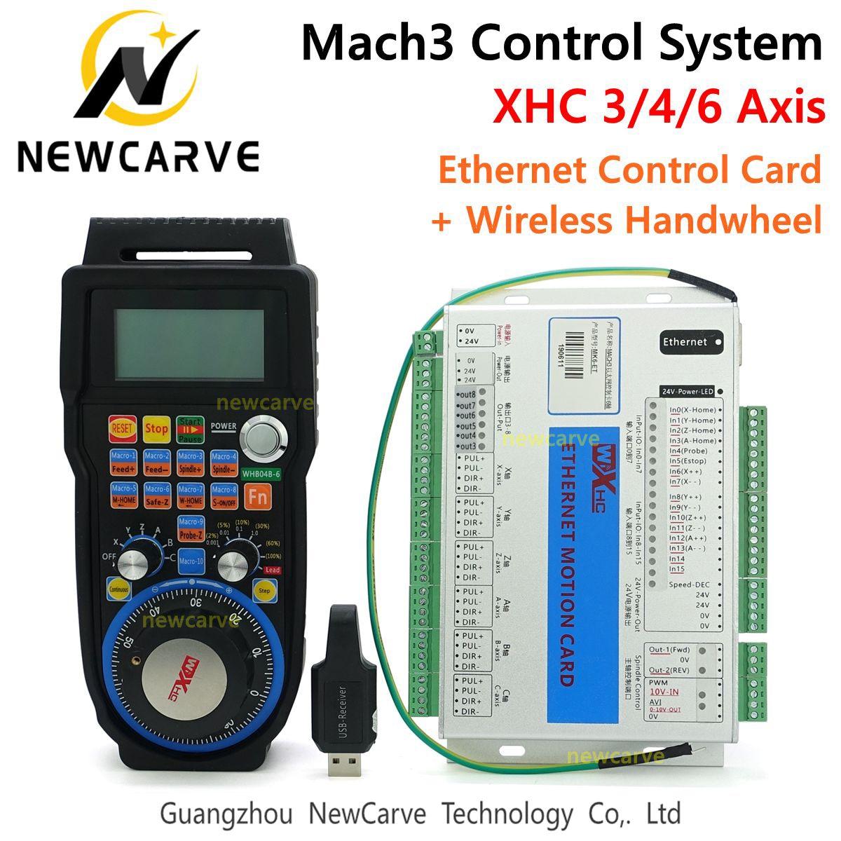 Kit de contrôleur Mach3 XHC 2MHz Ethernet carte de commande de mouvement 3 4 6 axes avec volant suspendu sans fil MPG WHB04B