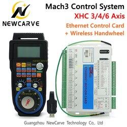 Mach3 управление Лер комплект XHC 2 МГц Ethernet коммутационная плата 3 4 6 оси движения Управление картой с MPG беспроводной Кулон Маховик WHB04B
