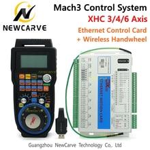 Mach3 컨트롤러 키트 XHC 2MHz 이더넷 브레이크 아웃 보드 3 4 6 축 모션 제어 카드 (MPG 무선 펜던트 핸드 휠 WHB04B 포함)