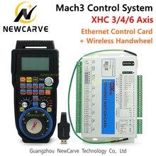 Mach3 コントローラキット xhc 2 mhz イーサネットブレークアウト基板 3 4 6 軸 mpg とワイヤレスペンダントハンドル WHB04B