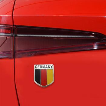 Metal 3D Germany German Flag Badge Emblem Deutsch Car Body VW Decal Sticker Audi Decoration Window Bumper For Grille S2C5 image
