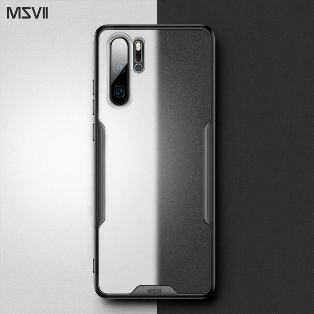 Msvii caso de luxo para huawei p20 pro caso transparente para huawei p30 pro silicone caso para huawei p20 capa traseira para huawei p30