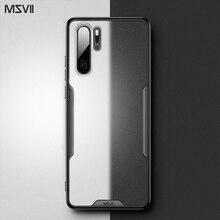 Msvii étui de luxe pour Huawei P20 Pro étui Transparent pour Huawei P30 Pro étui en Silicone pour Huawei P20 couverture arrière pour Huawei P30