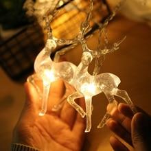 Рождественские украшения для дома креативная гирлянда с оленями