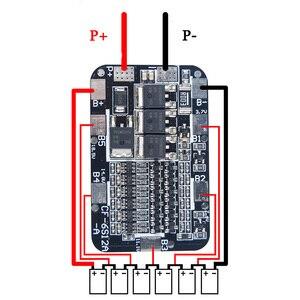 Bms 2 s 3 s 4S 6 s 40a 50a 18650 lipo li-ion bateria de lítio proteção equalizador placa 4S 6 s bms pcb 3.7 v balanceamento diy