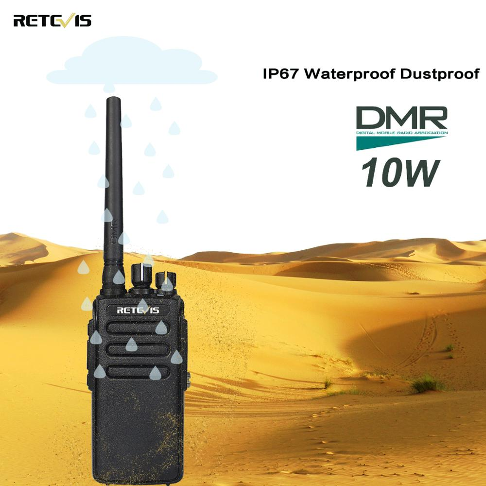 10W Retevis RT81 Digital Walkie Talkie DMR UHF Radio IP67 Waterproof 400 470Mhz VOX Encryption Digital