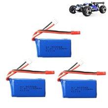 3 pçs para wltoys a949 a959 a969 a979 k929 lipo bateria 7.4v 1100mah 903048 25c lipo bateria para rc helicóptero avião carros barcos