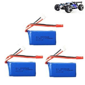 Image 1 - 3Pcs for Wltoys A949 A959 A969 A979 K929 LiPo Battery 7.4V 1100mah 903048 25c Lipo Battery For RC Helicopter Airplane Cars Boats