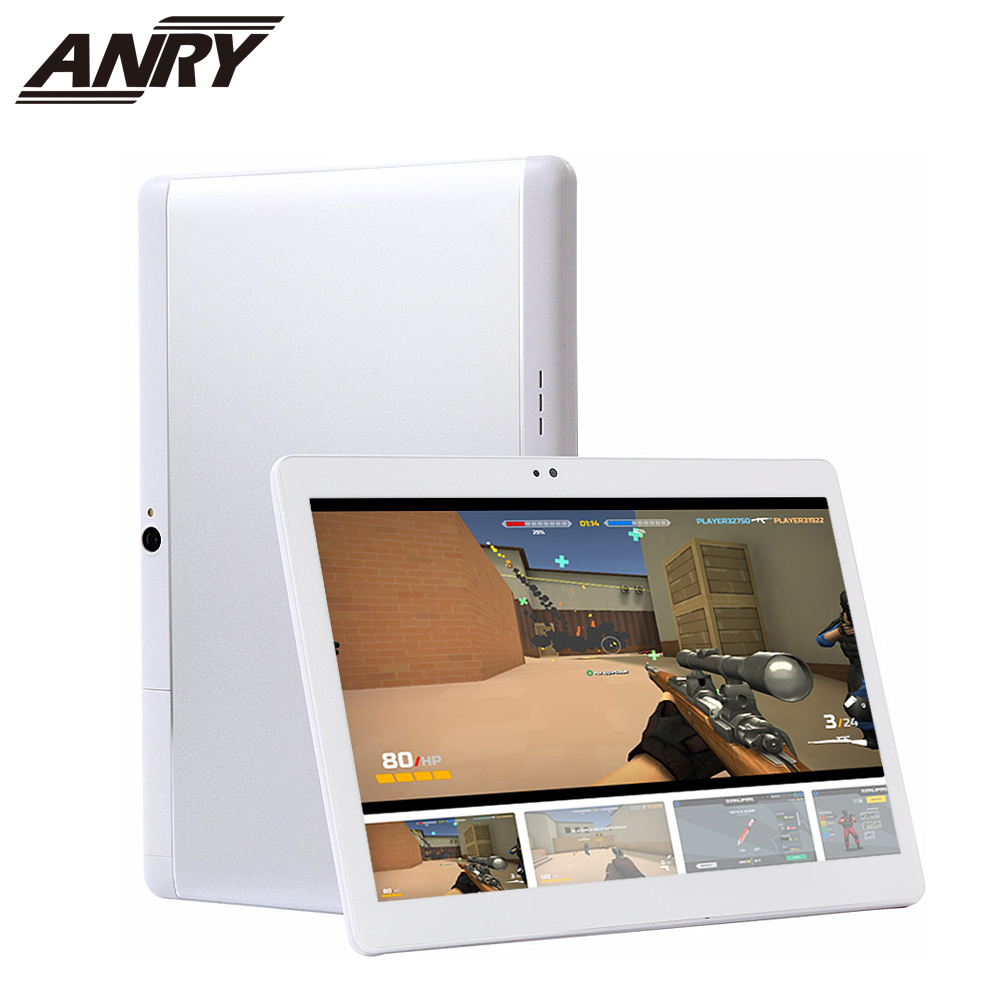 ANRY Android 7.0 10.1 Inch Tablet PC WiFi Bluetooth IPS 1280x800 Touch Screen 4GB RAM +32GB ROM Dual Camera PC Tab 5000mAh