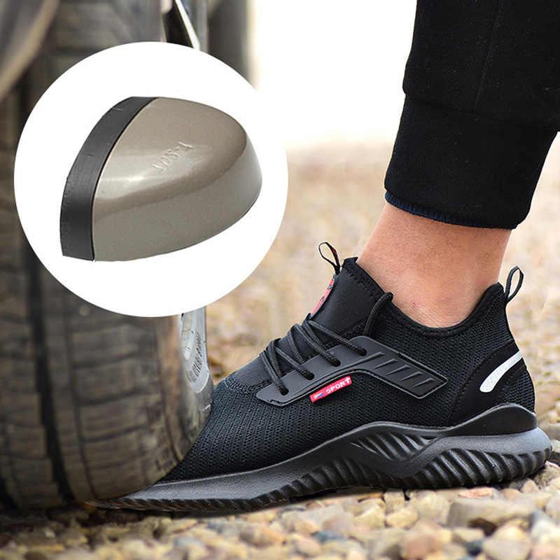 Botas masculinas para segurança, botas indestrutíveis para segurança do trabalho, sapatos leves à prova de punção, dropshipping