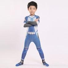 Cosdaddy a-trem cosplay macacão para crianças meninos festa de halloween traje zentai bodysuit