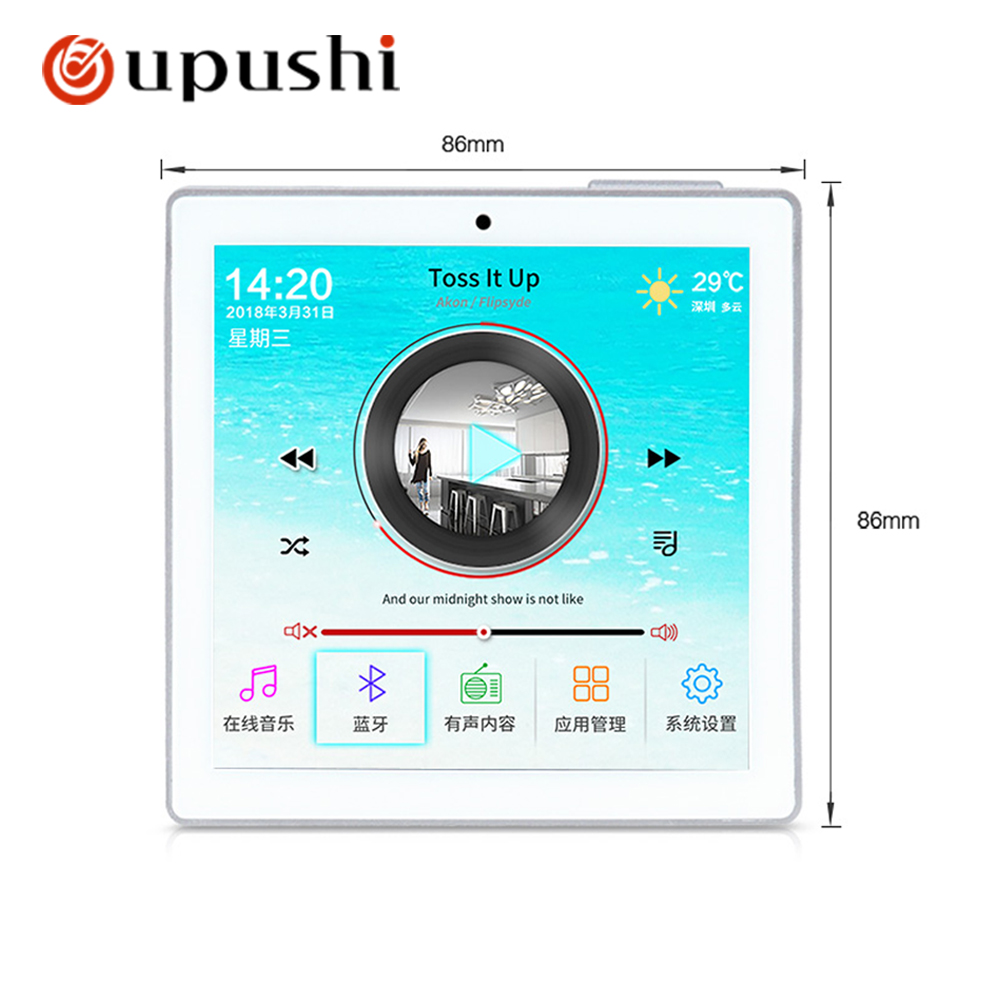 OUPUSHI B5 Audio visual in wall background music controller Bluetooth digital home theater cinema system Home Office Hotel Store