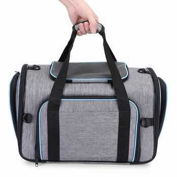 4-Way Expandable Breathable Pet Carrier Oxford Cloth Travel Cat Dog Bag Kennel