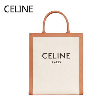 цена CELINE Paris Vertical Cabas Handbag Luxury Canvas Two Handles Adjustable Leather Strap Female Shoulder Bags 192082BNZ.02NT онлайн в 2017 году