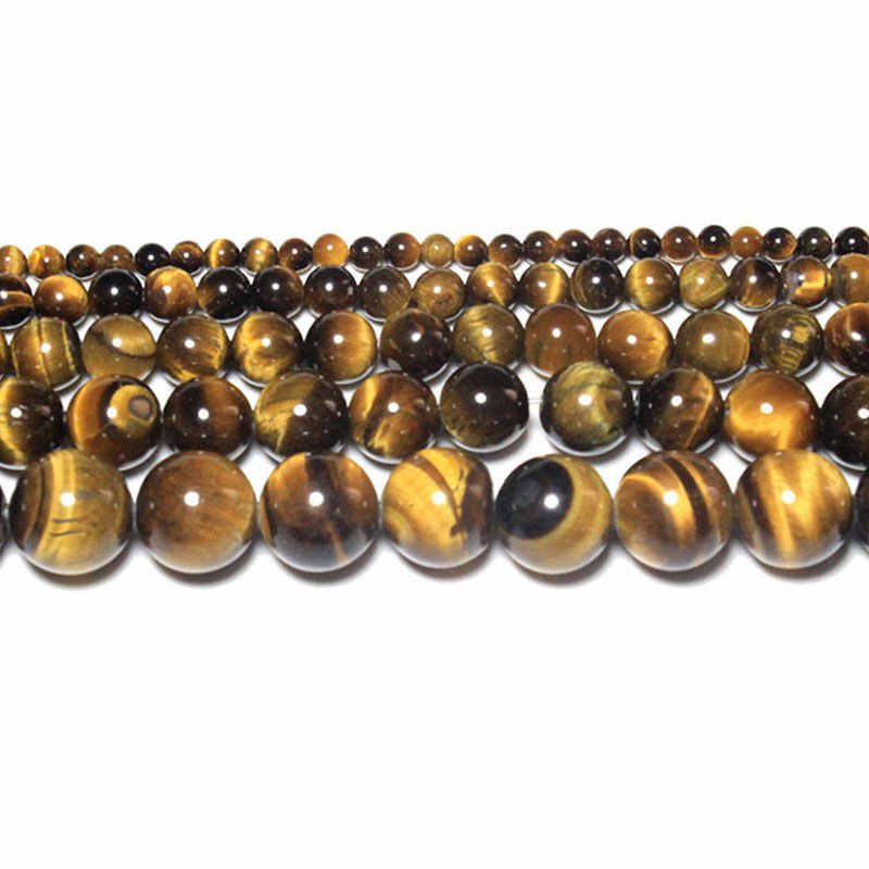 למעלה טבעי Agates Amethysts טייגר עין ברדוריט עגול אבן חרוזים עבור תכשיטי ביצוע Diy צמיד שרשרת 4/6/ 8/10MM