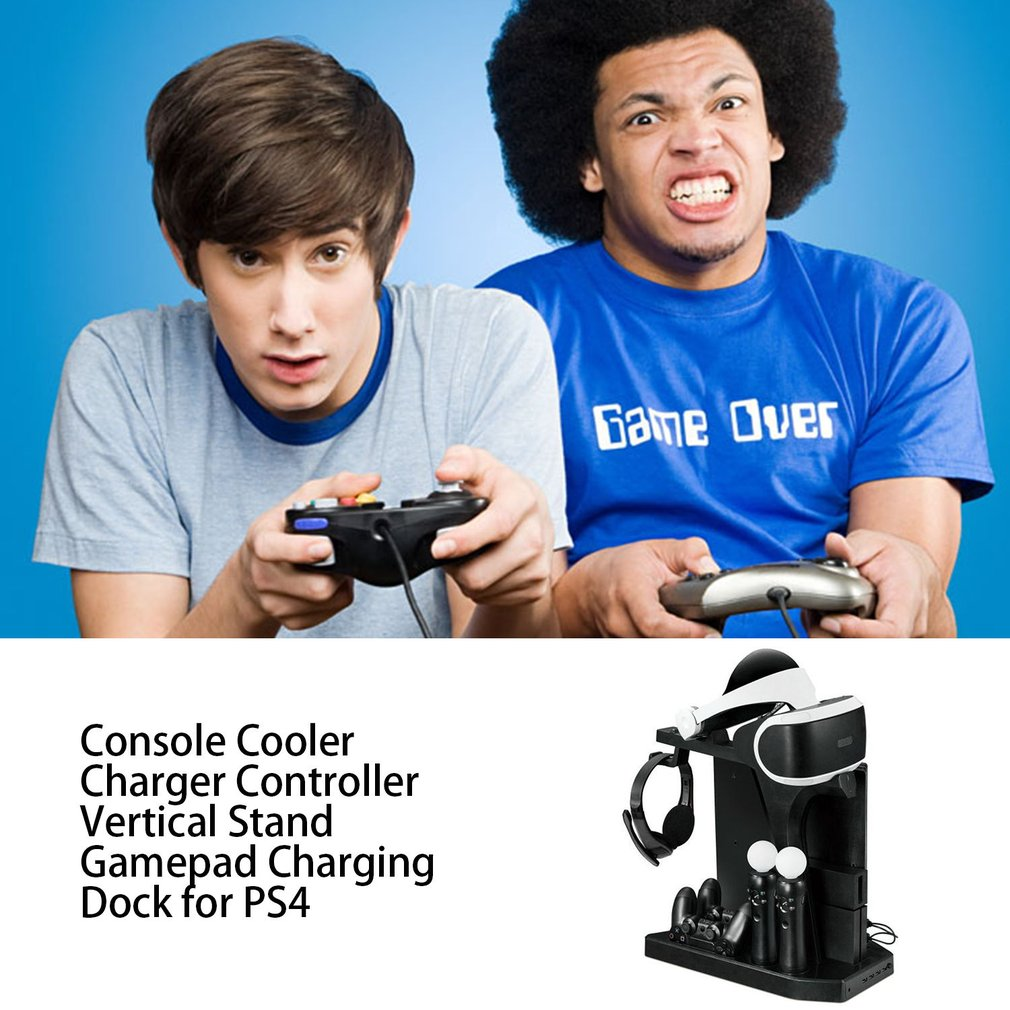Charger Controller Vertical Stand Gamepad Charging Dock Console Cooler for PS Move for PS4 Slim for PS4 Pro for PSVR PSVR2
